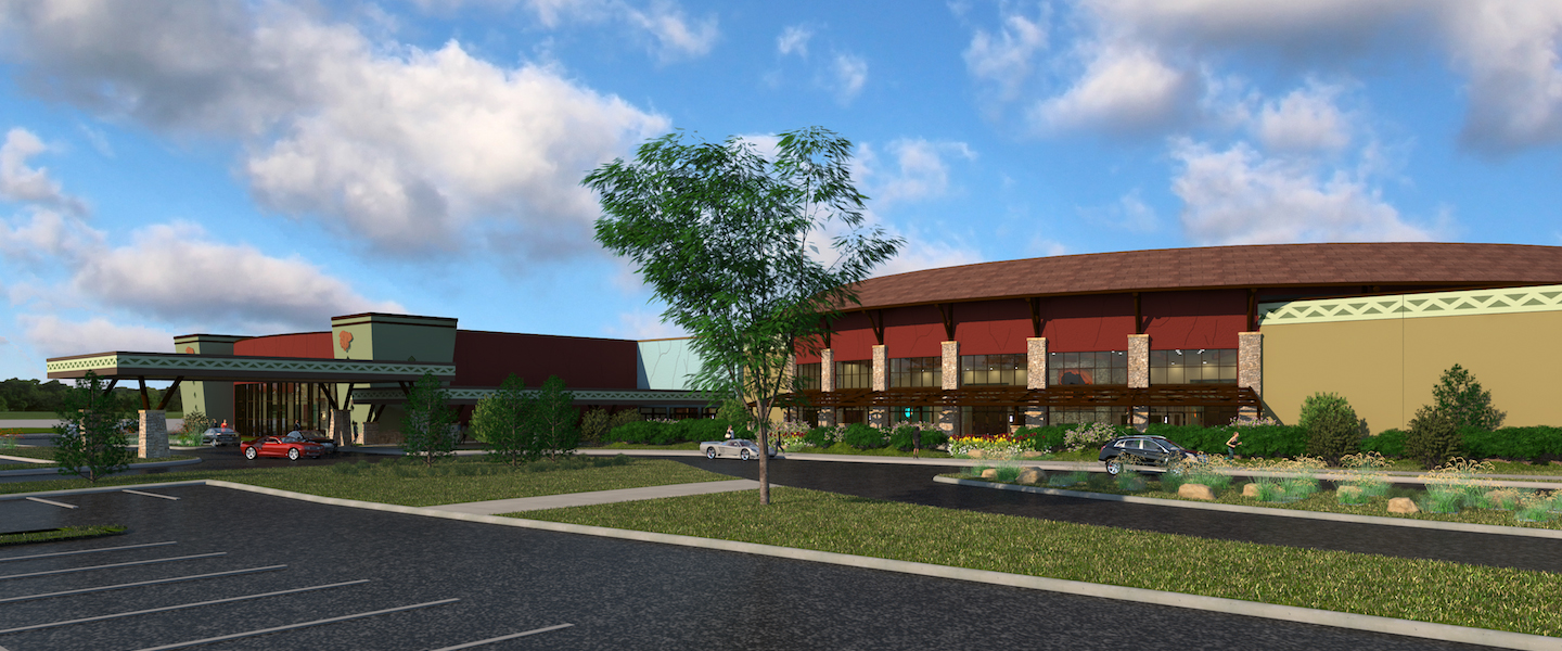 Artist rendering of the exterior view of the expansion of Kalahari Resorts & Conventions Center in the Pocono Mountains, Pennsylvania