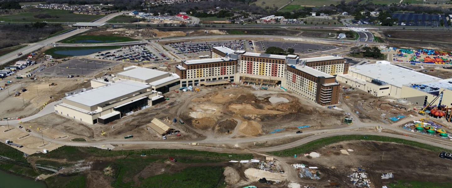 Ongoing construction of the new Kalahari Resorts & Conventions Center in Round Rock, Texas