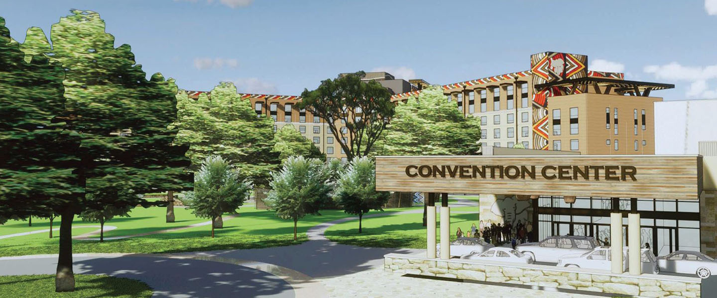 Rendering of the Convention Center entrance at Kalahari Resorts and Conventions in Round Rock, Texas