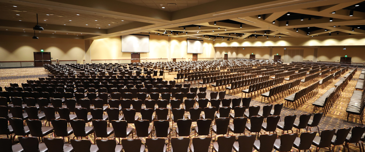 our brand new huge convention center room at Kalahari Resorts & Conventions in Pennsylvania